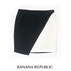 Banana republic black white skirt EUC 6